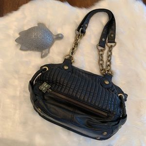 BCBGMAXAZRIA Black Bag with Gold Tone Hardware